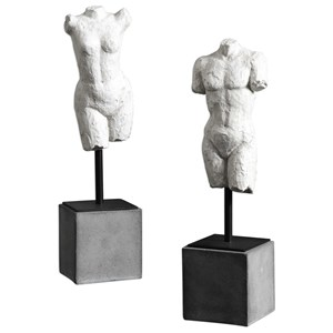 Valini Torso Sculptures Set of 2