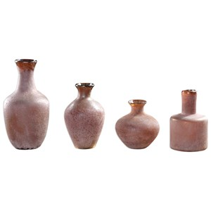 Uttermost Accessories Carri Rust Red Vases Set of 4