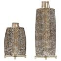 Uttermost Accessories - Vases and Urns Reptila Textured Ceramic Vases Set of 2 - Item Number: 18807