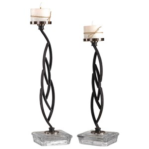 Uttermost Accessories Mahin Candleholders Set of 2