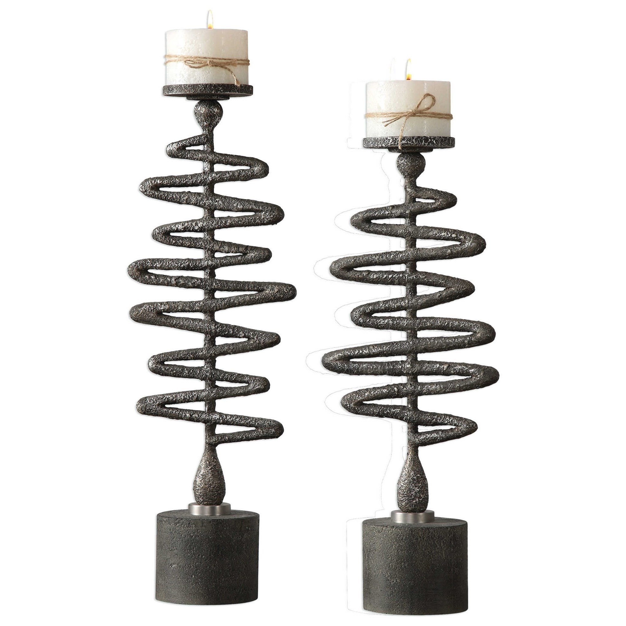 Zigzag Candleholders Set of 2