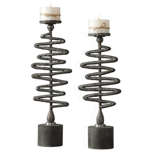 Zigzag Candleholders Set of 2