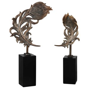 Quill Feathers Sculpture Set of 2