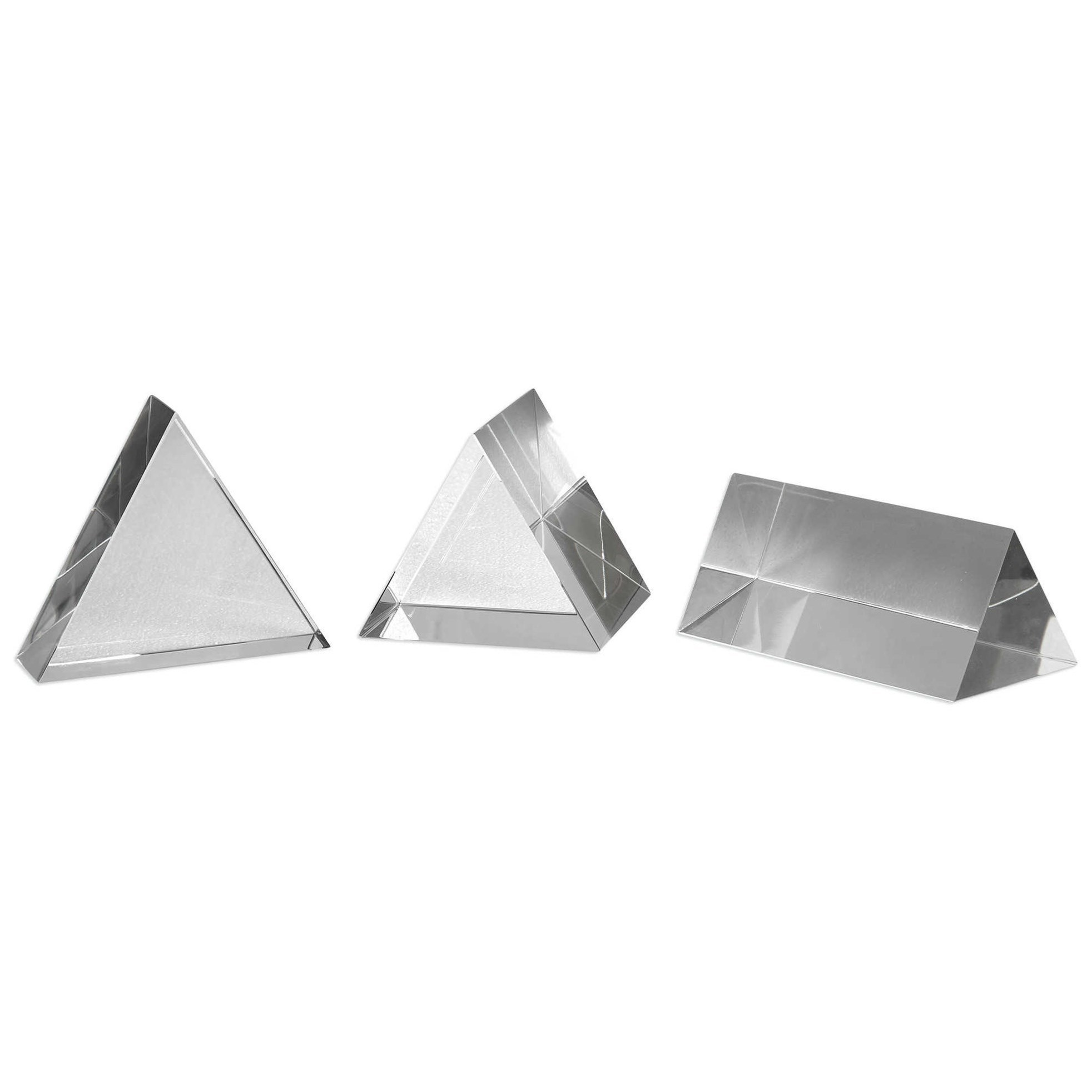 Triangle Trio Sculptures Set of 3