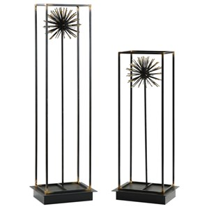 Flowering Dandelions Sculptures Set of 2