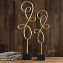 Uttermost Accessories Arka Metallic Gold Sculpture Set of 2
