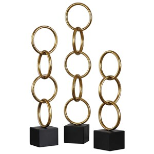 Uttermost Accessories Chane Gold Sculpture Set of 2