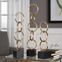 Uttermost Accessories Chane Gold Sculpture Set of 2