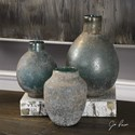 Uttermost Accessories Mercede Weathered Blue-Green Vases Set of 3