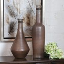 Uttermost Accessories Chandi Smoke Glass & Rust Wash Vases Set of