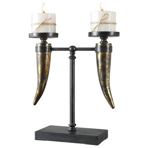Uttermost Accessories Janaki Gold Horn Candleholder