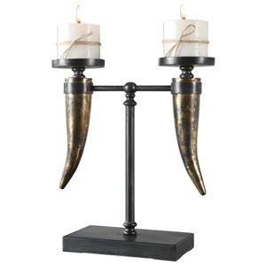 Uttermost Accessories Janaki Gold Horn Candleholder