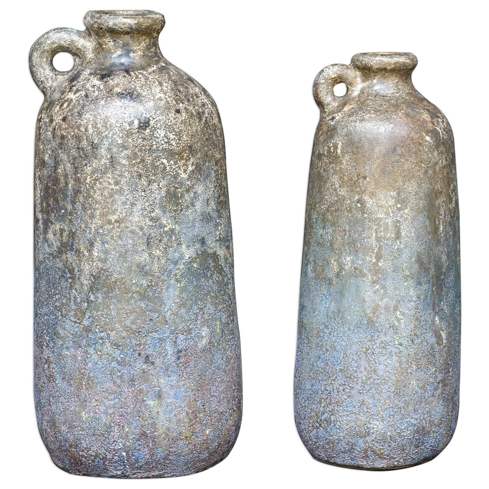 Accessories Ragini Terracotta Bottles, S/2 by Uttermost at Del Sol Furniture