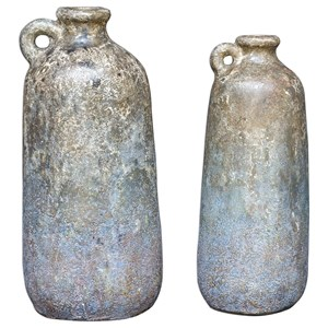 Ragini Terracotta Bottles, S/2