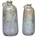 Uttermost Accessories Ragini Terracotta Bottles, S/2 - Item Number: 18859