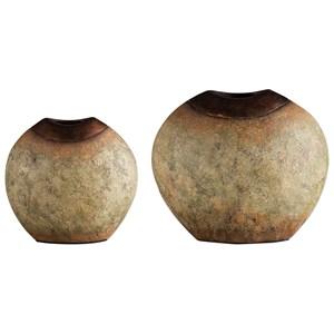Uttermost Accessories Hadi Verdi Glaze Vases S/2