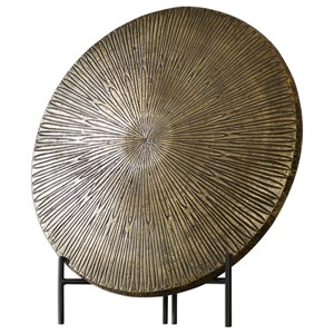 Uttermost Accessories Achen Antiqued Brass Charger