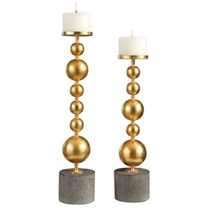 Uttermost Accessories Selim Gold Sphere Candleholders
