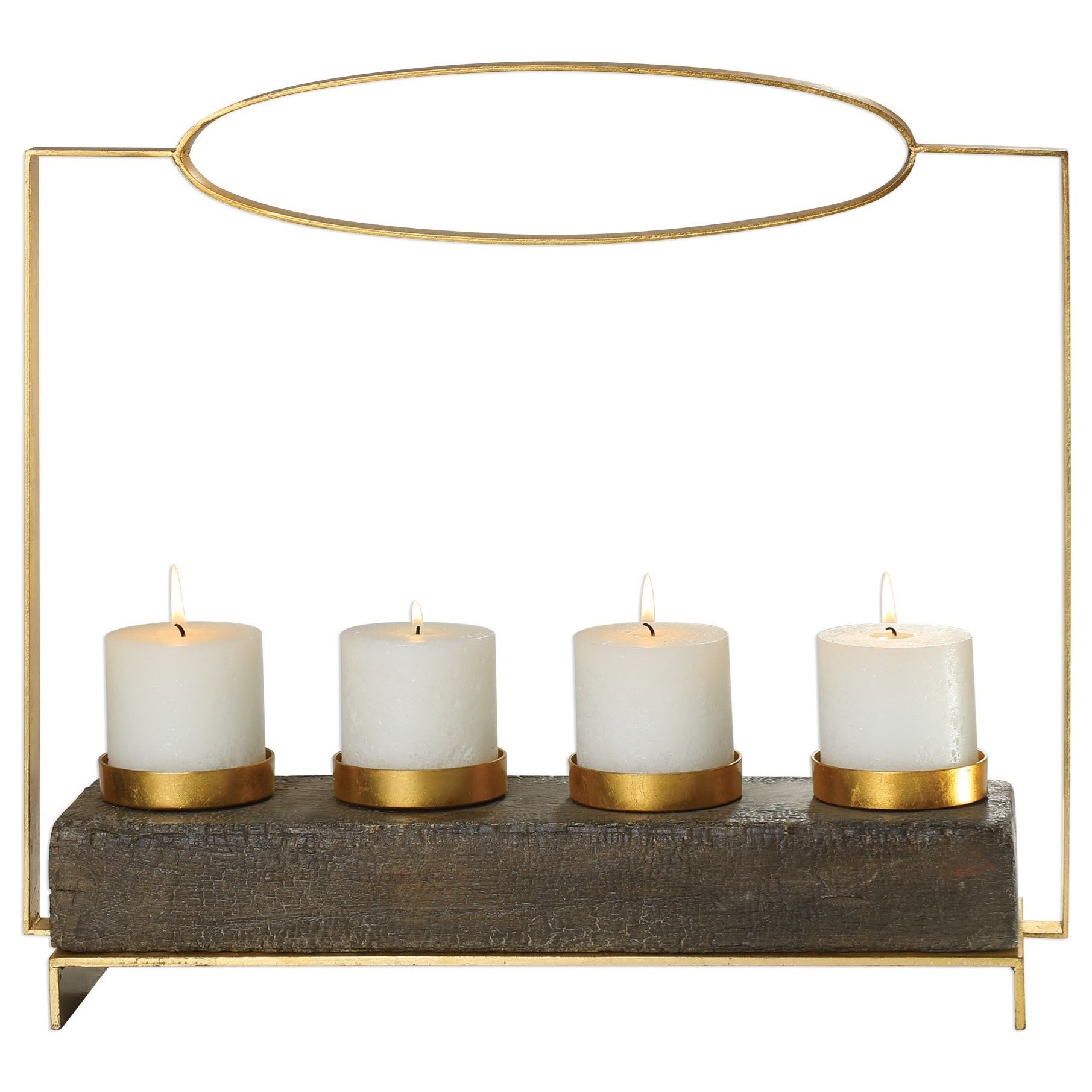 Amrit Gold Candleholder