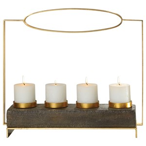 Uttermost Accessories Amrit Gold Candleholder