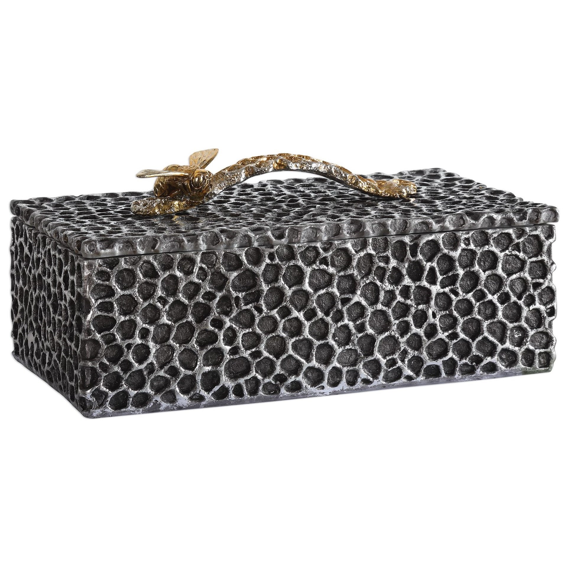 Accessories - Boxes Hive Aged Black Box by Uttermost at Dunk & Bright Furniture