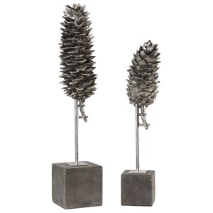 Uttermost Accessories  Longleaf Pine Cone Sculptures