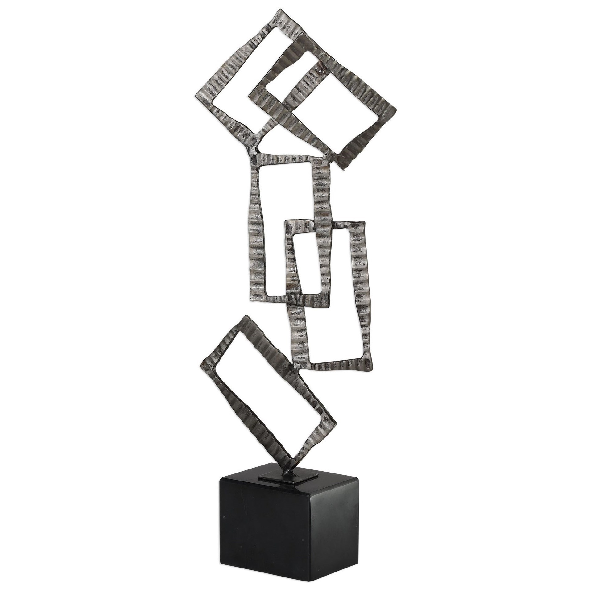 Accessories - Statues and Figurines Talal Brushed Nickel Sculpture by Uttermost at Suburban Furniture