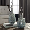 Uttermost Accessories Arpana Blue And Gray Bottles S/2