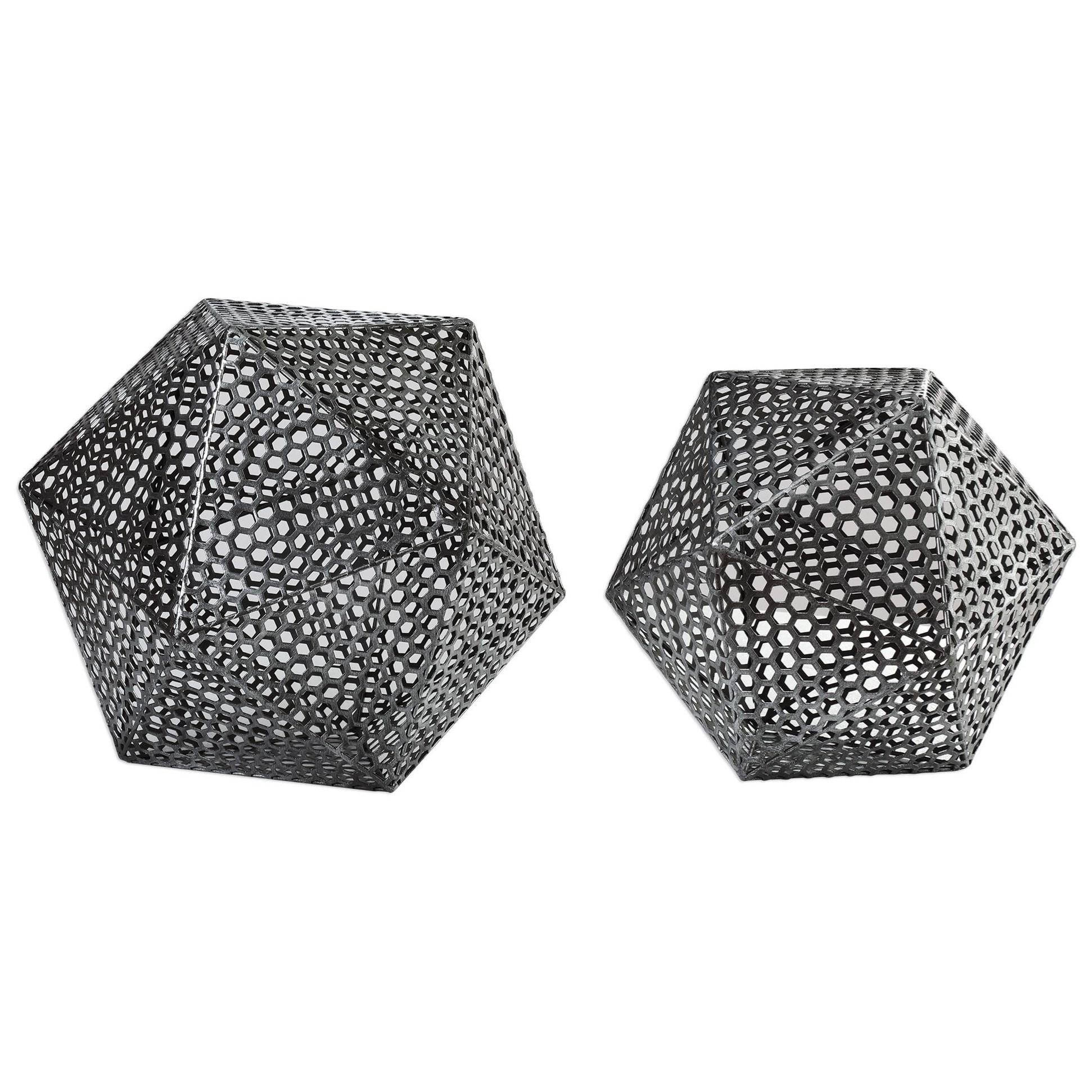 Accessories - Statues and Figurines Kimora Aged Icosahedrons S/2 at Becker Furniture