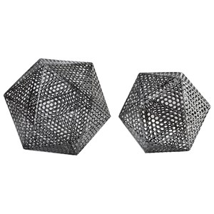 Uttermost Accessories Kimora Aged Icosahedrons S/2