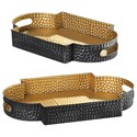 Uttermost Accessories Gatha Bronze & Gold Trays S/2 - Item Number: 18931