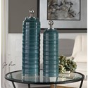 Uttermost Accessories Delane Dark Teal Canisters S/2