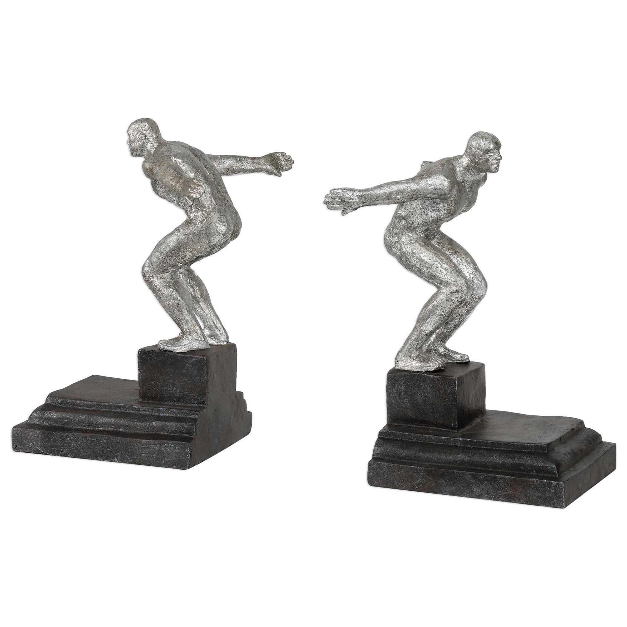 Endurance Silver Bookends, S/2