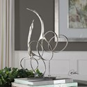 Uttermost Accessories Admiration Silver Bird Sculpture