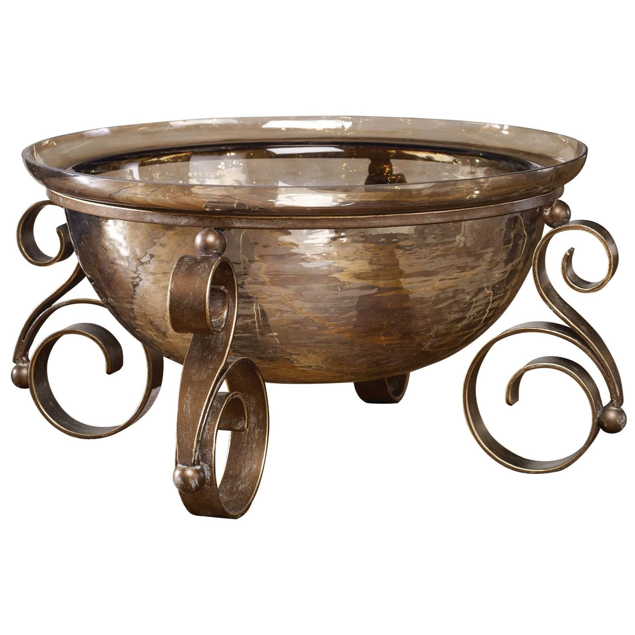 Accessories Alya Bronze Glass Bowl by Uttermost at Suburban Furniture