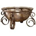 Uttermost Accessories Alya Bronze Glass Bowl - Item Number: 18955