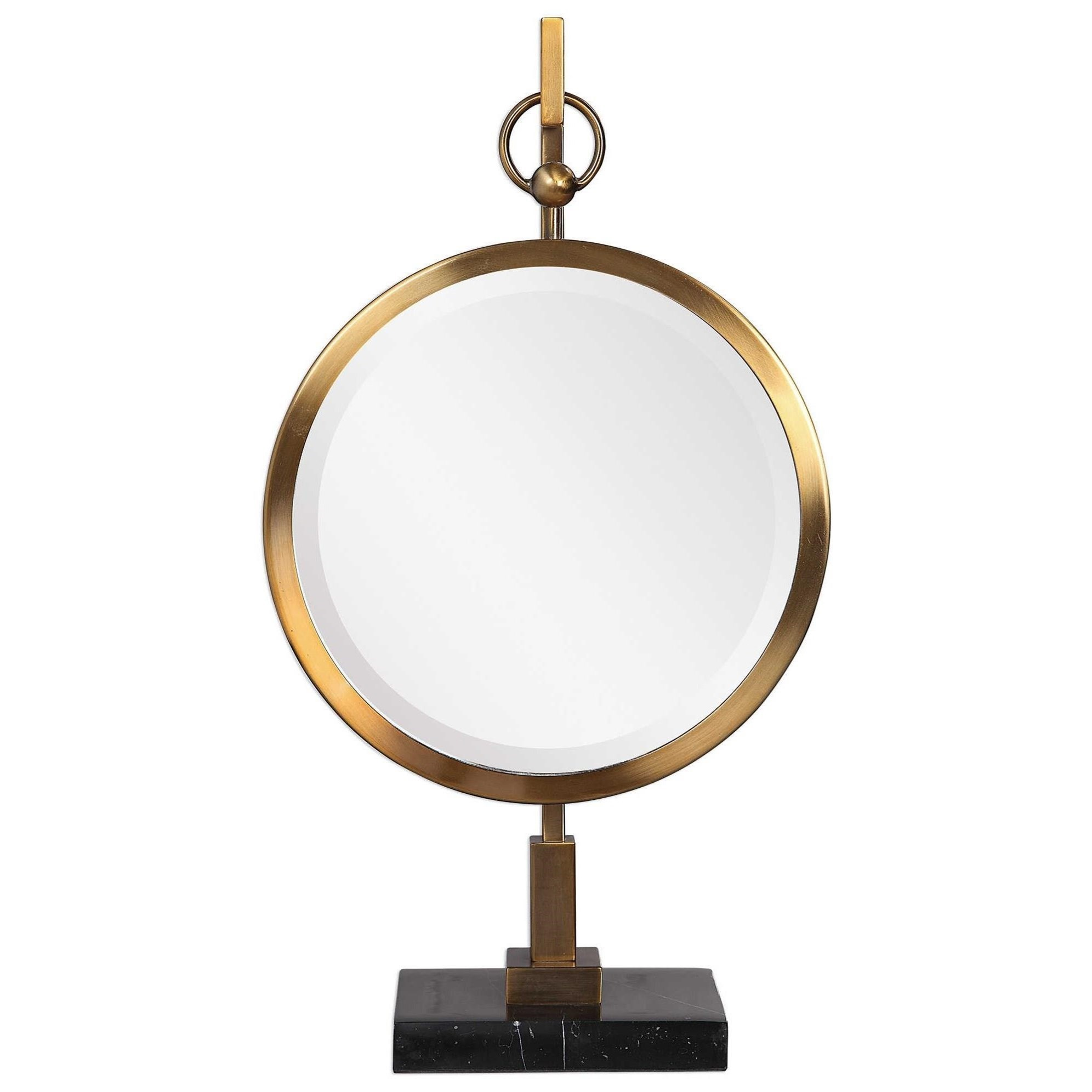 Accessories Nori Bronze Tabletop Mirror by Uttermost at Dunk & Bright Furniture
