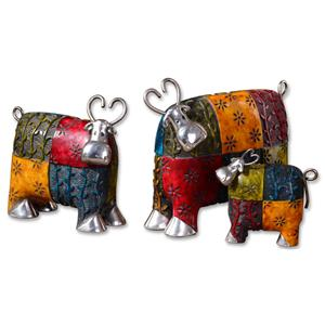 Colorful Cows Accessories Set of 3