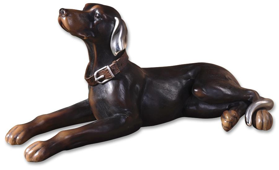 Uttermost Accessories Resting Dog Statue - Item Number: 19070