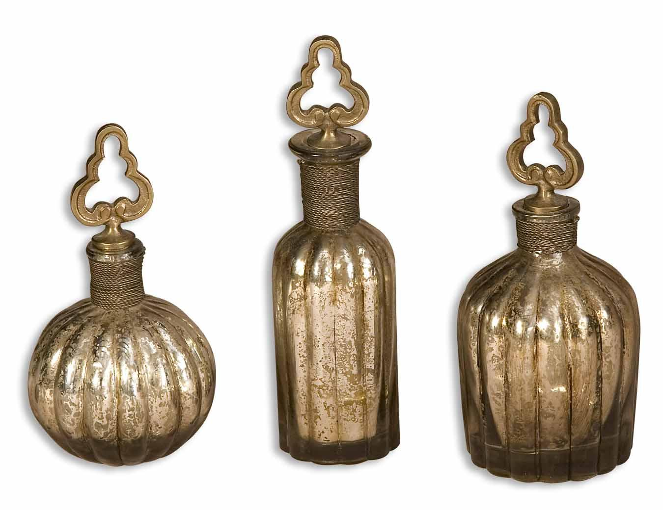 Uttermost Accessories Kaho Perfume Bottles Set of 3 - Item Number: 19141