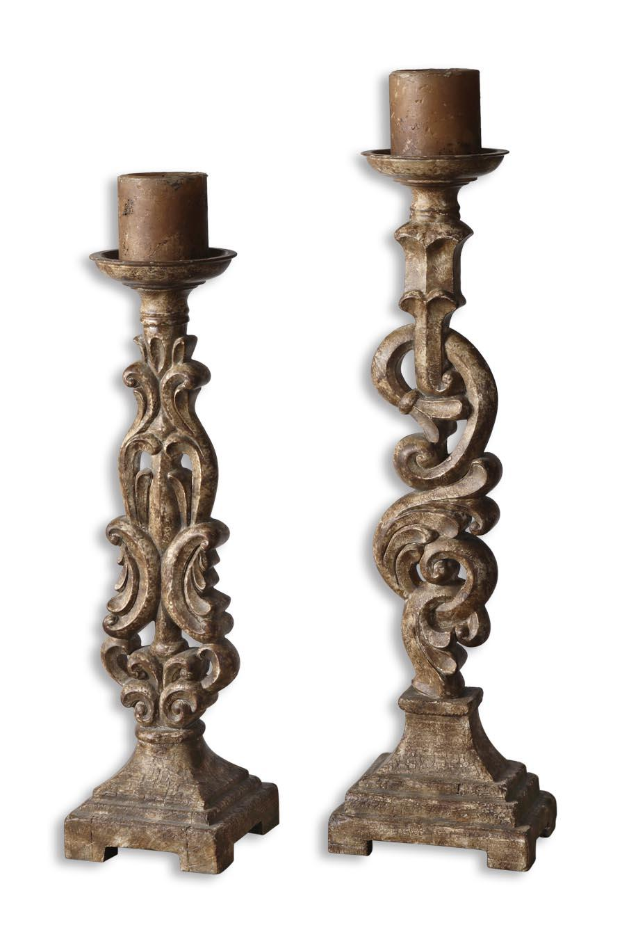 Uttermost Accessories Gia Candleholders Set of 2 - Item Number: 19218