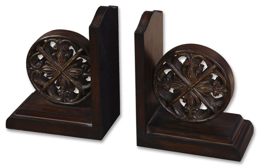 Uttermost Accessories Chakra Bookends Set of 2 - Item Number: 19251