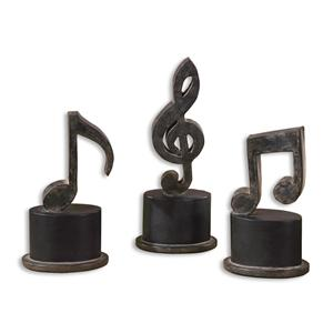 Uttermost Accessories Music Notes Set of 3