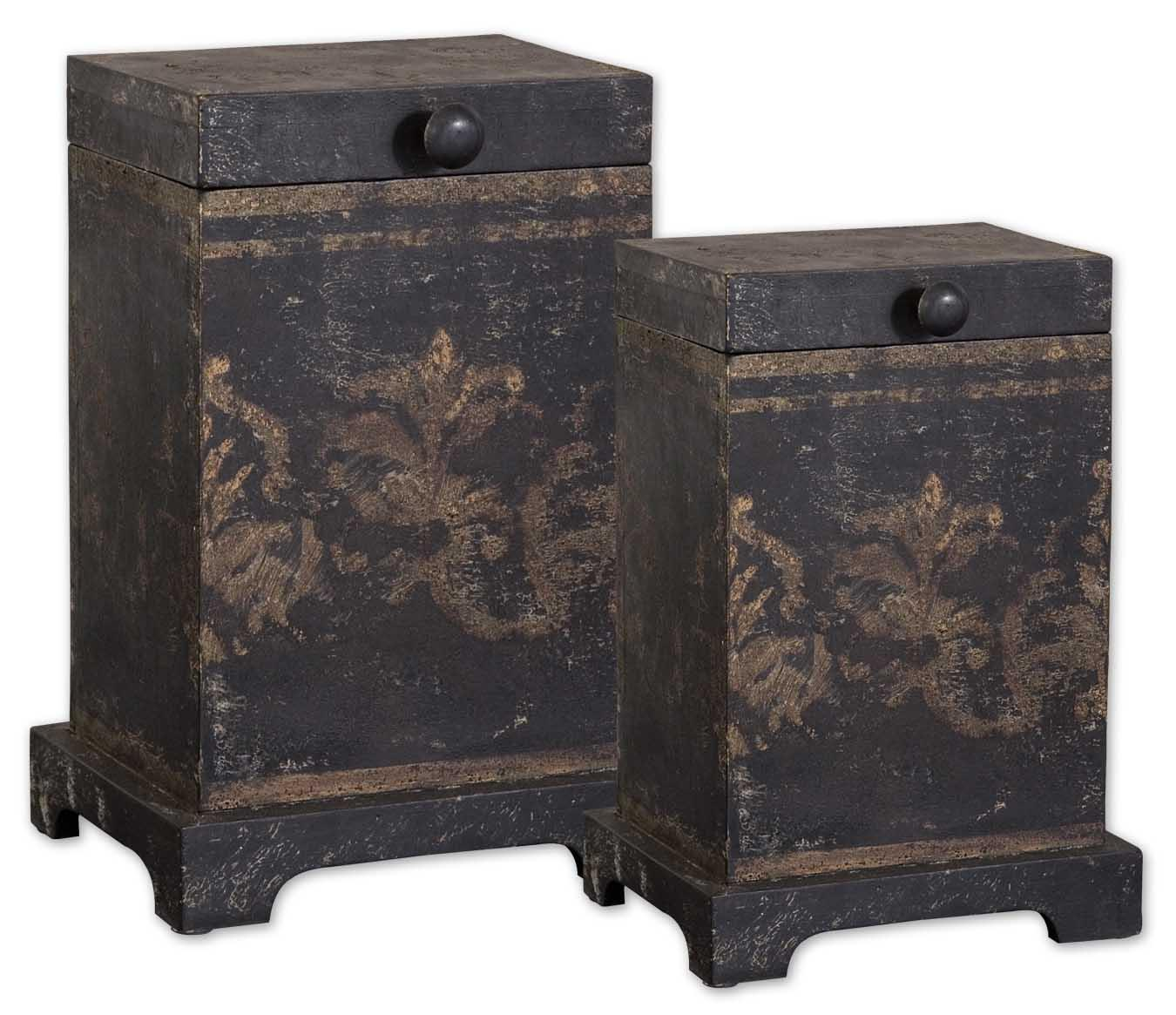 Uttermost Accessories Melani Boxes Set of 2 - Item Number: 19320