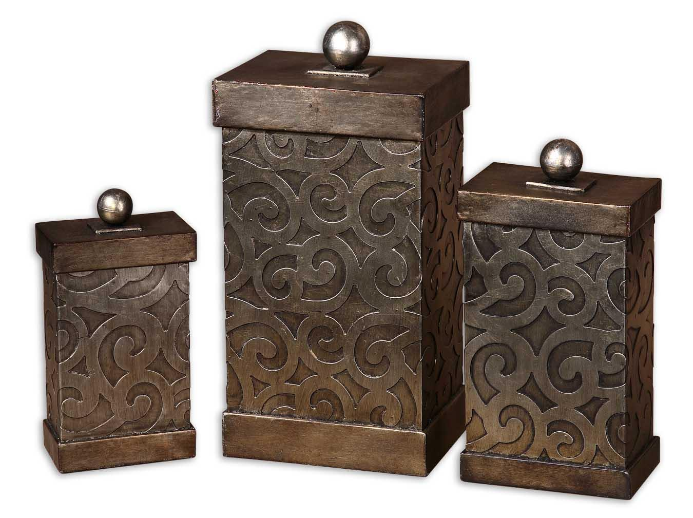 Uttermost Accessories Nera Boxes Set of 3 - Item Number: 19418