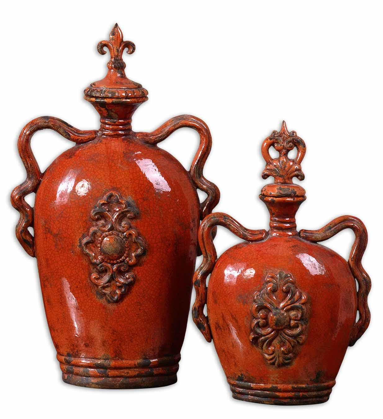 Uttermost Accessories Raya Containers Set of 2 - Item Number: 19525