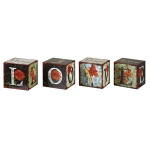 Uttermost Accessories Love Letters Accessories Set of 4