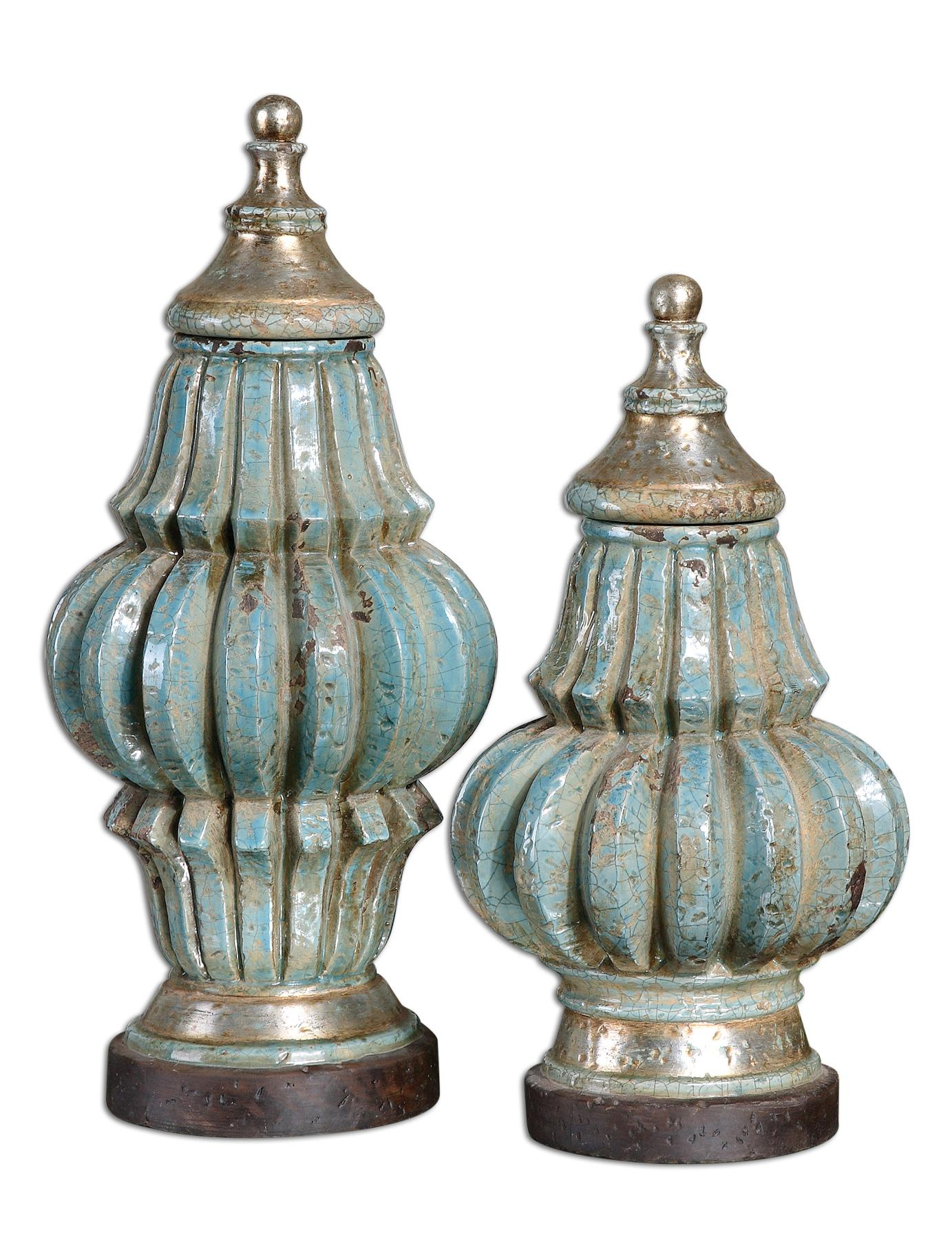Uttermost Accessories FatimaUrns Set of 2 - Item Number: 19546