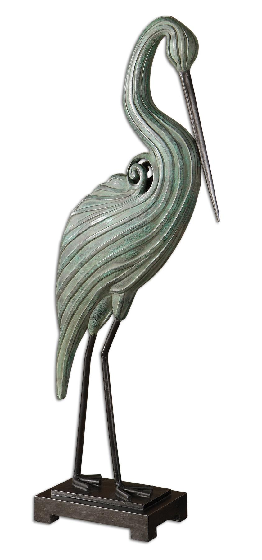 Uttermost Accessories Keanu Heron Sculpture - Item Number: 19566