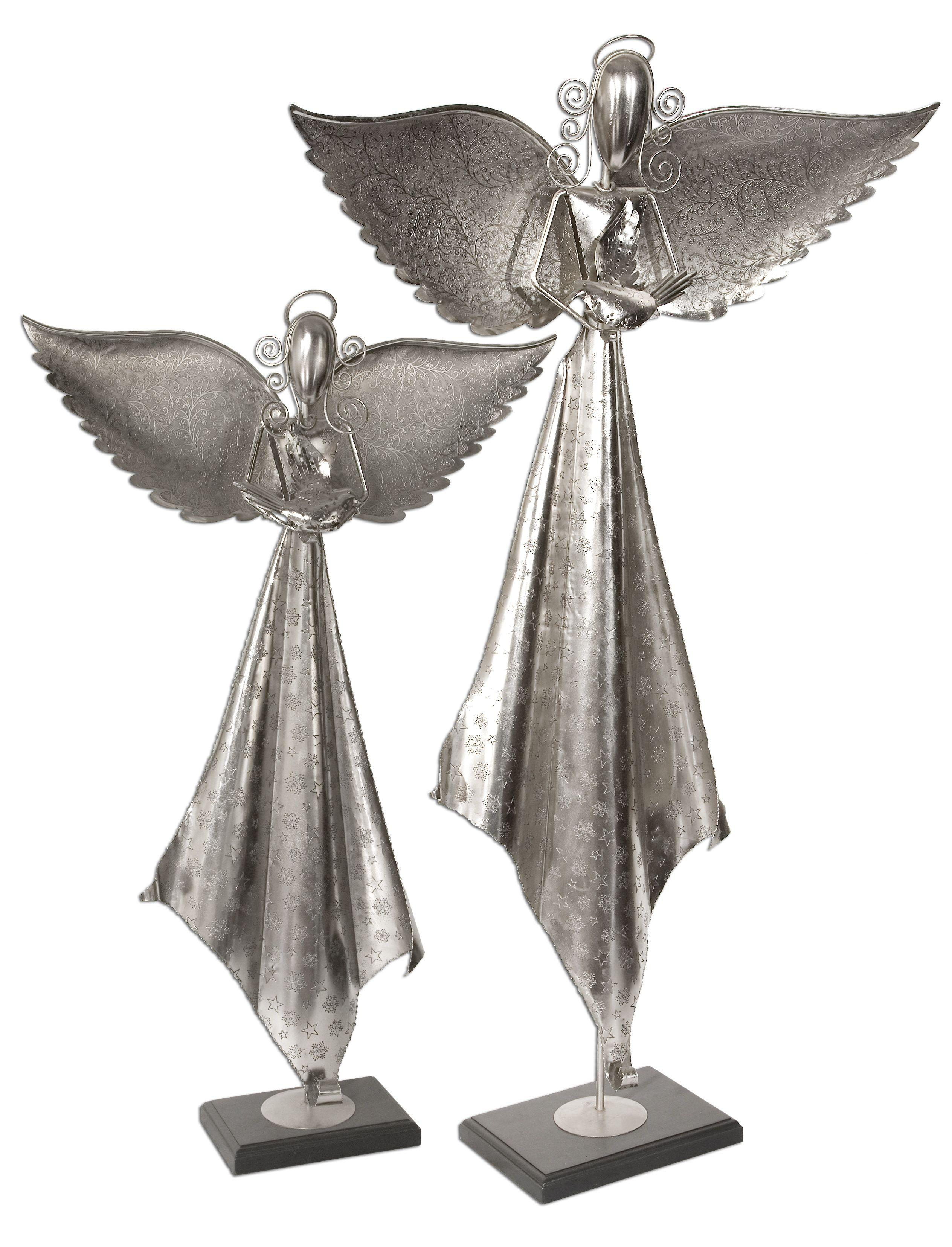 Uttermost Accessories Angels Sculpture Set of 2 - Item Number: 19570
